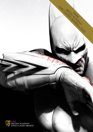 GAME British Academy Video Games Awards 2012 brochure cover: Batman Arkham City