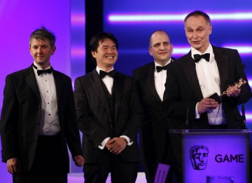 Cut the Rope wins Handheld. Nine days after its release, the game had been purchased one million times. (Pic: BAFTA/Brian Ritchie)