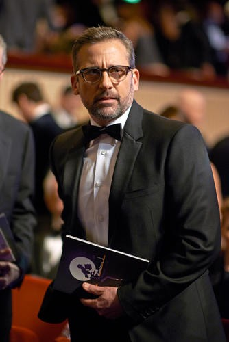 Steve Carell finds his seat in the Auditorium of London's Royal Opera House.