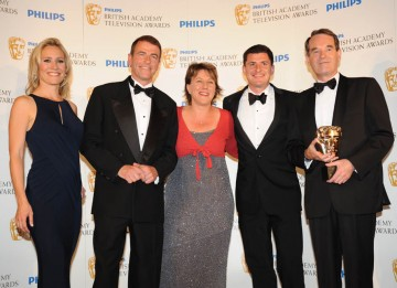 ITV News at Ten wins the News Coverage BAFTA for their reporting of the Haiti Earthquake (BAFTA/Richard Kendal).