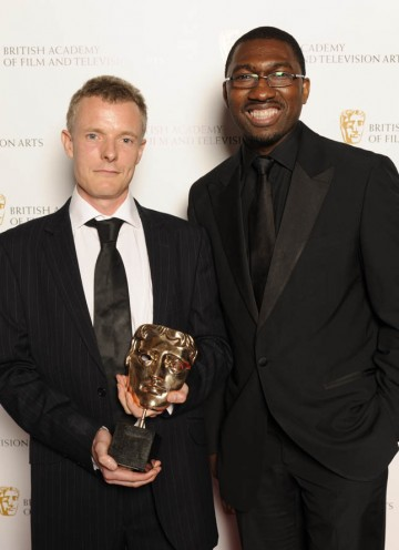Martin Phipps, winner of the BAFTA for Original Television Music for Small Island with Kwame Kwei-Armah