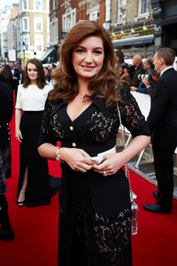 Karren Brady arrives on the red carpet for the House of Fraser British Academy Television Awards