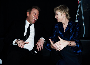Donal MacIntyre and Jane Lynch at the 2010 BAFTA Television Awards.