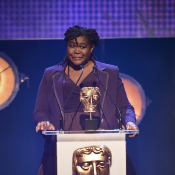 Maggie Aderin-Pocock presents the BAFTA for Factual at the British Academy Children's Awards in 2015
