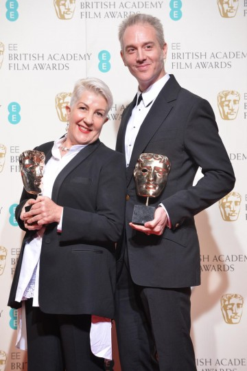 Winners of the Make up & Hair award - Mad Max: Fury Road: Lesley Vanderwalt and Damian Martin