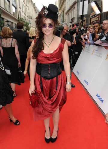Leading Actress BAFTA nominee Helena Bonham Carter arrives on the red carpet (BAFTA/Richard Kendal).