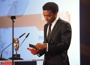 The British stage and screen actor and 2006 Orange Rising Star winner presents the Director: Fiction Award. (Pic: BAFTA/Jamie Simonds)