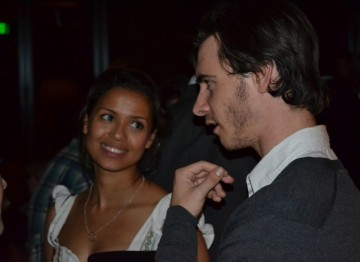 Gugu Mbatha-Raw talks with Harry Lloyd