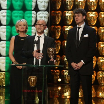 Neil Crombie, Dinah Lord and Joe Evan accept the award for Specialist Factual