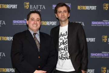 Moderator Ethan Alter and David Tennant.