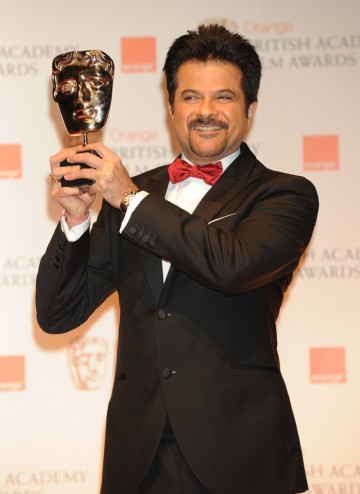 Actor Anil Kapoor who accepted the BAFTA on behalf of Pedro and Agustin Almodóvar.