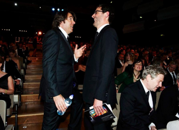Jonathan Ross and Louis Theroux at the 2009 BAFTA Television Awards.