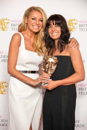 BAFTA winners Tess Daly and Claudia Winkleman