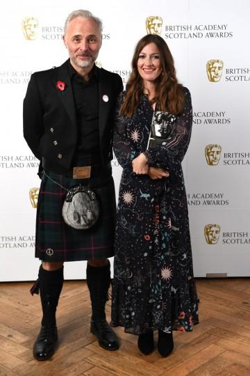 Kelly Macdonald with presenter Mark Bonnar, Actress Television.