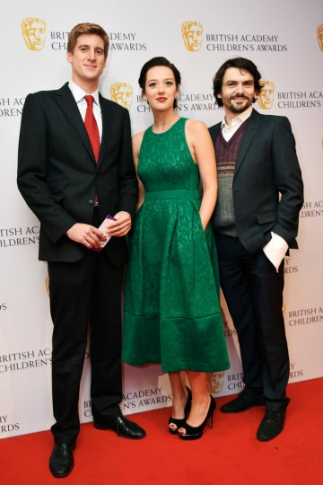 Tom Stourton, Jessica Ransom and Jalaal Hartley at the BAFTA Children's Awards 2015 at the Roundhouse on 22 November 2015