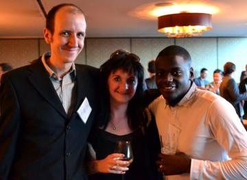 Jack Thorne, Caroline Skinner and Daniel Kaluuya
