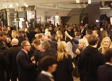 Networking at the Breakthrough Brits celebration.