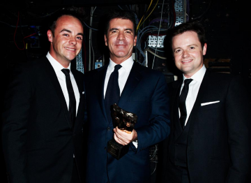 Ant, Dec and Simon Cowell at the 2010 BAFTA Television Awards.