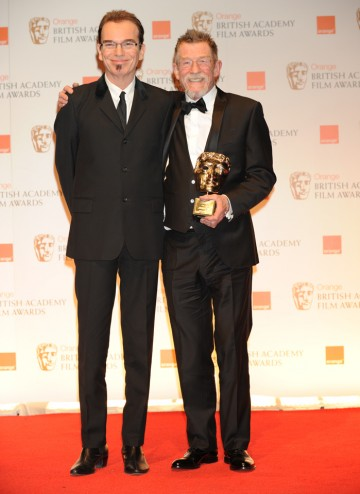 Billy Bob Thornton with the veteran actor, recognised for his exceptional body of work in films like The Elephant Man and Midnight Express.
