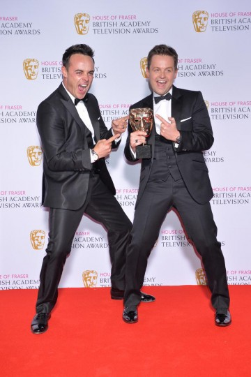 The BAFTA for Entertainment Programme in 2015 was won by Ant & Dec's Saturday Night Takeaway.