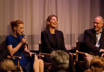 Jessica Chastain, Director Kathryn Bigelow and Moderator Steve Daly