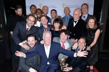 Somethin' Else wins the Indepedent Production Company of the Year category at the British Academy Children's Awards in 2015, presented by Keith Chegwin.