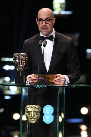 Stanley Tucci presents the award for Director at the 2016 EE British Academy Film Awards