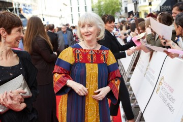 Supporting Actress nominee Gemma Jones mingles on the red carpet