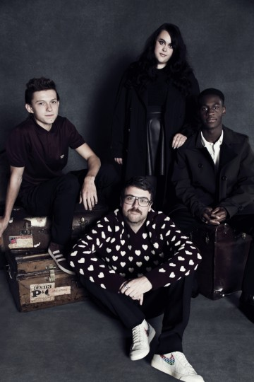 From left to right: Tom Holland, Rex Crowle, Sharon Rooney, Ade Oyefeso