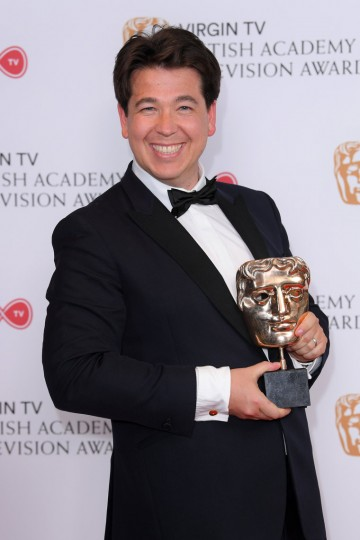 Michael McIntyre beams after winning the award for Entertainment Performance