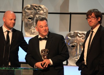 BAFTA winners for Comedy Programme: Richard Webb,  Stewart Lee and Tim Kirkby.