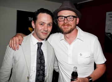 Reece Shearsmith and Simon Pegg after the event at the BFI, London (BAFTA/Brian J Ritchie).