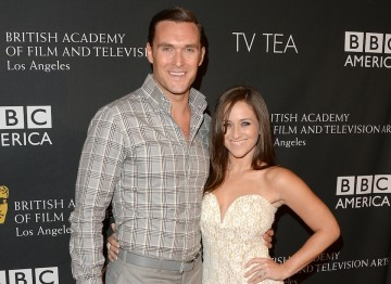 Actor Owain Yeoman and his wife Gigi Yallouz