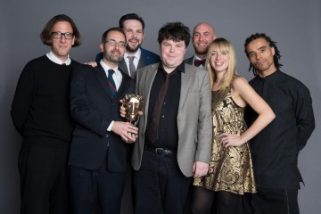 The team behind Poetry Between the Lines, winner of the Learning - Secondary category at the British Academy Children's Awards in 2014