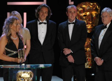The Current Affairs award was collected by the Dispatches team of Mags Gavan, Joosst van der Valk, Alice Keens-Soper and Paul Woolwich for Saving Africa's Witch Children (BAFTA / Marc Hoberman).