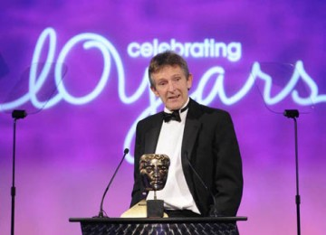 The Interactive Innovation Service/Platform award was collected by Liz Cleaver, Mick Webb (pictured) and Jose Deniz for their Spanish language learning website Mi Vida Loca: Real Spanish, Real Drama (BAFTA / Richard Kendal).