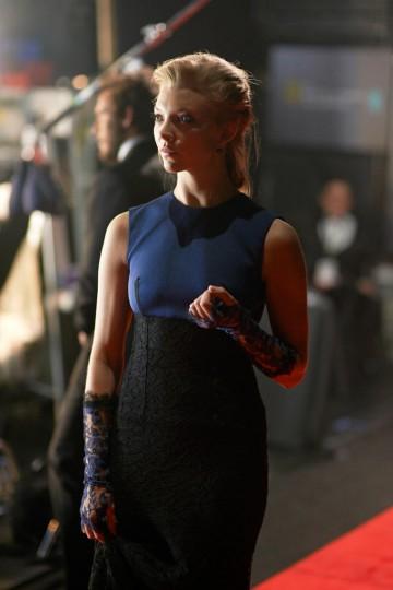 Costume Design award presenter Natalie Dormer backstage at London's Royal Opera House.