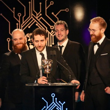The Life is Strange team accept the award for Story