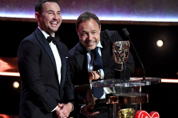Martin Compston and Stephen Graham present the Award for Supporting Actress