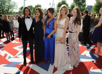 Ollie, Binky (wearing Dynasty), Gabriella, Cheska (wearing Anoushka G at House of Fraser) and Rosie (wearing ALC) from Made in Chelsea, nominated for the Reality and Constructed Factual award.