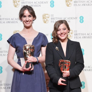 Winners of the British Short Film Animation award - Edmond: Emilie Jouffroy and Nina Gantz