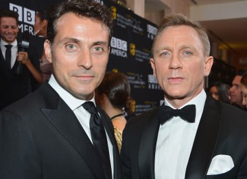 British actor Rufus Sewell with honoree Daniel Craig.