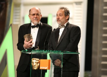 Richard King and Ed Novack picked up the BAFTA for their sterling work on sci-fi blockbuster Inception. (Pic: BAFTA/Stephen Butler)