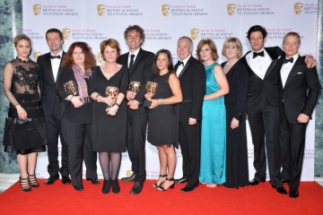 The BAFTA for Drama Series in 2015 was presented by Dianna Agron and Freddie Fox to Happy Valley.