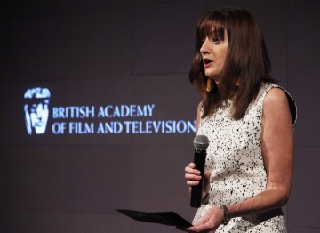 Amanda Berry, CEO of BAFTA, delivers a speech at the Breakthrough Brits event.