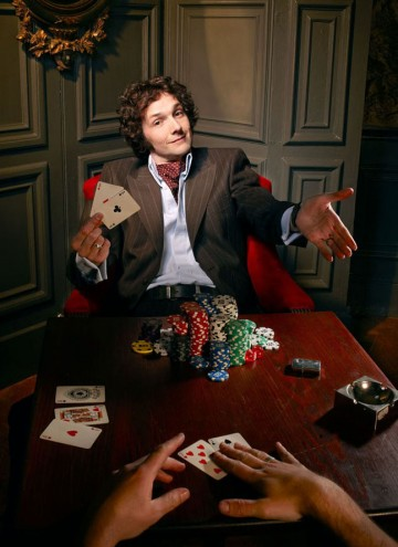 Chris Addison poses for the Television Awards comedy photoshoot in 2010.