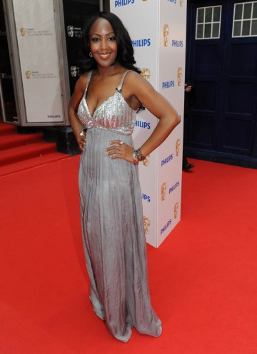 With accessories from Hot Diamonds, Angellica Bell arrives on the red carpet to interview the stars for BAFTA (BAFTA/Richard Kendal).