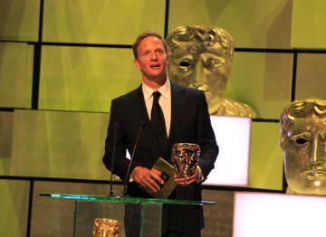 Spooks' Rupert Penry-Jones presents the award for Leading Actress.