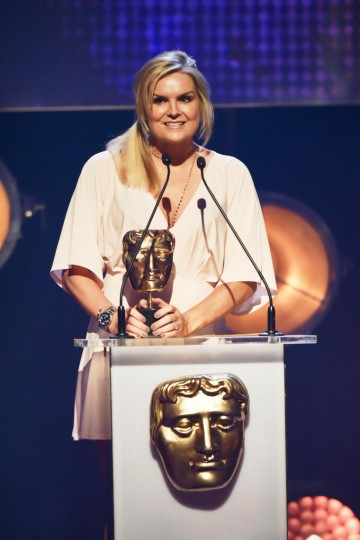 Katy Hill presents the BAFTA for Presenter at the British Academy Children's Awards in 2015