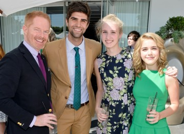 From left to right: Jesse Tyler Ferguson, Justin Mikita, Gabby Manzari and Kiernan Shipka